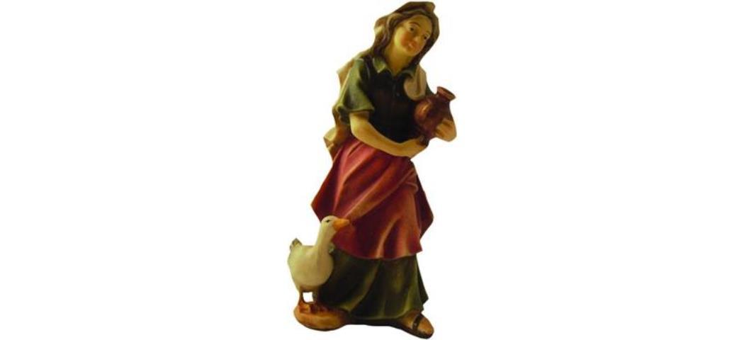 Krippenfiguren Magd, geeignet für 13cm Figuren, handbemalen (44649)