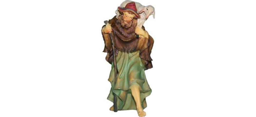 Krippenfiguren Schäfer mit Stab, geeignet für 13cm Figuren (44654)