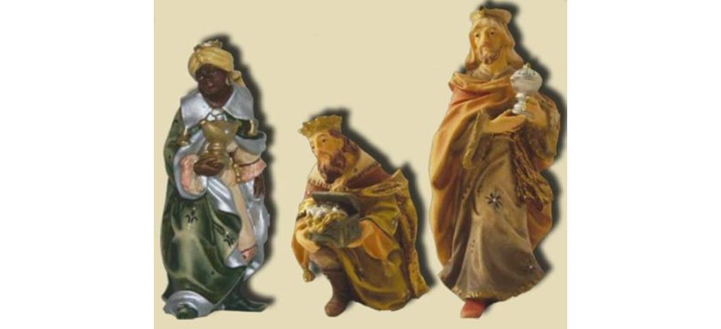 Krippenfiguren Heilige drei Könige, 3tlg. geeignet für 7cm Figuren (44666)