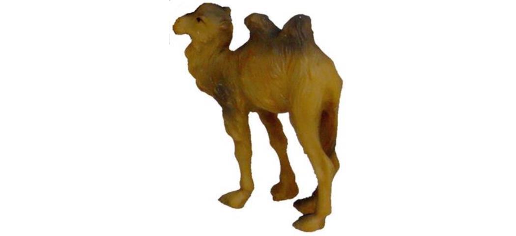 Krippenfiguren Kleines Kamel, geeignet für 7cm Figuren, handbemalen (44674)