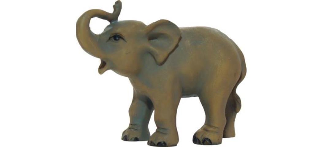 Krippenfiguren Kleiner Elefant, geeignet für 7cm Figuren, handbemalen (44681)