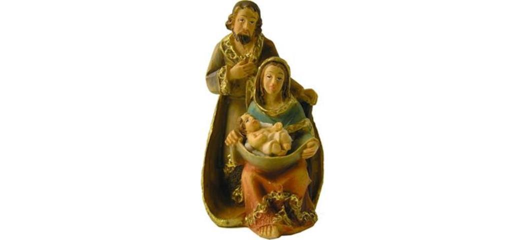 Heiligenfiguren Heilige Familie 2tlg. Figurenhöhe 6cm, handbemalen (44692)