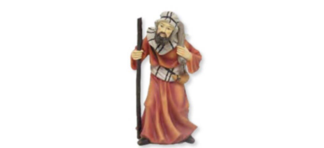 Krippenfiguren Kameltreiber, geeignet für 15cm Figuren, handbemalen (44749)