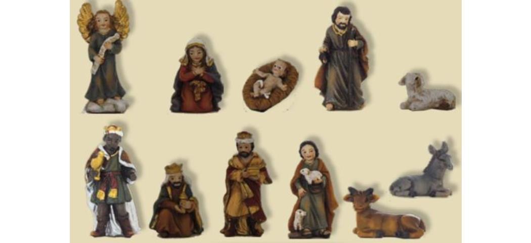 Krippenfiguren Krippenfigurenset 11tlg. geeignet für 3,5cm Figuren, handbemalen (44772)