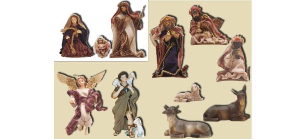Krippenfiguren Krippenset orientalisch 11tlg. für 13cm Figuren (44776)