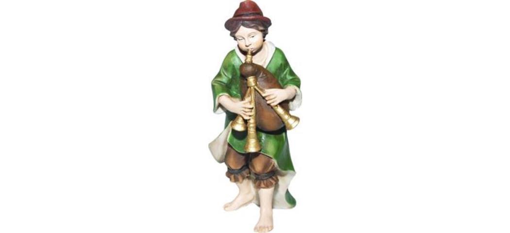 Krippenfiguren Musiker mit Dudelsack, geeignet für 12cm Figuren (44792)
