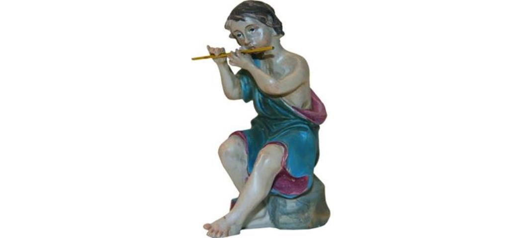 Krippenfiguren Musiker sitzend, geeignet für 12cm Figuren (44793)