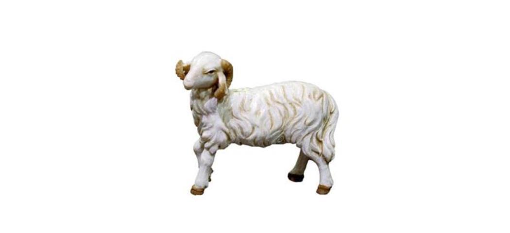 Krippenfiguren Schaf links schauen Höhe 6,4cm geeignet für 15-20cm Figuren (44847)
