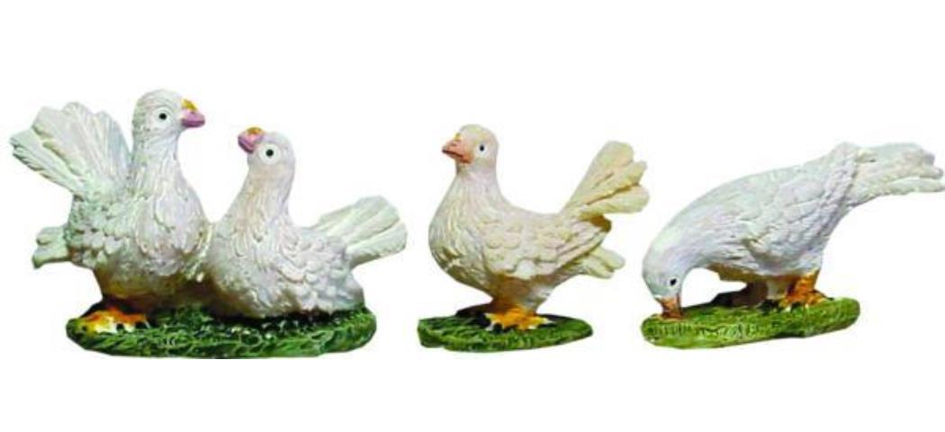Krippenzubehör Tauben 3tlg. Höhe 2,6cm geeignet für 11-13cm Figuren (44867)