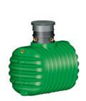 CRISTALL Erdtank  inkl. Domschacht und PKW- Modul, 2650 l, grün (9169200041)