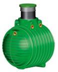COLUMBUS Tank inkl. Domschacht und PE- Deckel, 3700 l, grün (9169200032)
