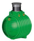 COLUMBUS Erdtank inkl. Domschacht und PKW- Modul, 6500 l, grün (9169200045)
